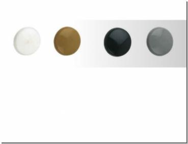 100Stück Schraubenblenden für Inbusschrauben Weiß